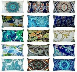 "12x20"" Bohemian Premium Velvet Throw PILLOW COVER Sofa Couch"