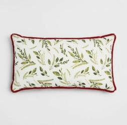 Botanical Oversize Lumbar Throw Pillow Cream/Green - Thresho
