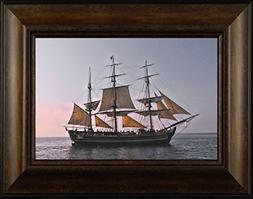 The Bounty By Todd Thunstedt 20x26 Sunset Sailing Fog Tall S