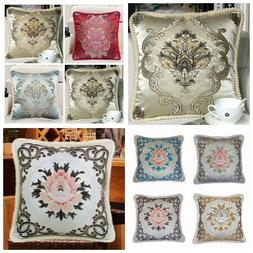 brocade vintage european jacquard throw pillow cover