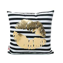 Monkeysell Bronzing Flannelette Home Throw Pillow Cover Lips