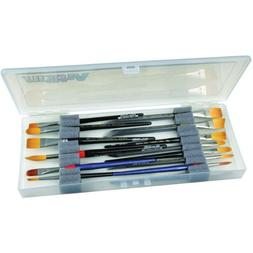 ArtBin Brush Box with Foam Inserts, Clear Artist Paint Brush
