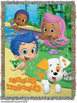 """Bubble Guppies, Guppy Fun Woven Tapestry Throw, 48"""" x 60"""""""
