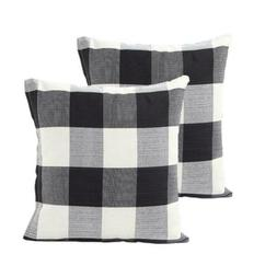TEALP Buffalo Check Throw Pillow Cover 18''x18'', set of 2,