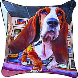 Manual Woodworkers & Weavers Bumping Along Basset Hound Thro