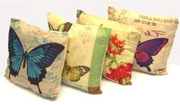 """Butterfly Decorative Throw  Pillow Cushion Sofa / Bed - 16""""X"""