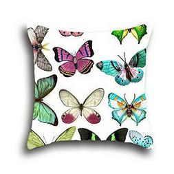 Robert Beautiful Butterfly Art Painting Supersoft Faux Suede