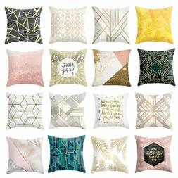 "2Pcs 18"" Geometric Cushion Covers Sofa Throw Pillow Cases Ho"