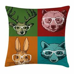 Ambesonne Cabin Decor Throw Pillow Cushion Cover, Hipster Re