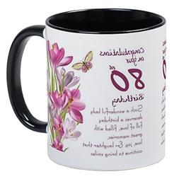 CafePress - 80Th Birthday Crocus Gift Mug Mugs - Unique Coff
