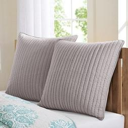 Camila Quilted Euro Sham In Taupe