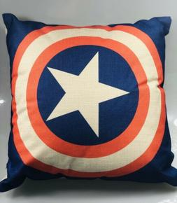Captain America Super Hero Throw Pillow Includes Pillow And