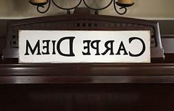 """CARPE DIEM """"Seize the Day"""" in Latin Sign Plaque Hand Painted"""