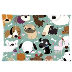 Cartoon Dog Pet Puppy Collection Zippered Bed Pillow Cases 1