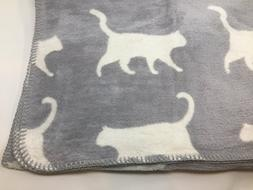 INUP Home Fine Linens Cats Reversable Throw Blanket 51 x 67