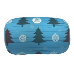 Christmas Tree Print Micro Bead Tube Cushion Lumbar Roll Cou