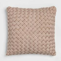 "Chunky Knit Oversize Throw Pillow - Neutral - Square - 24"" x"
