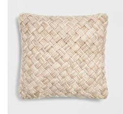 """Threshold 2 Pack Coral Orange Decorative Houndstooth Toss Pillows 18/"""" x 18/"""""""