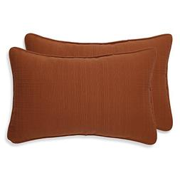 Pillow Perfect Cinnabar Corded Throw Pillow