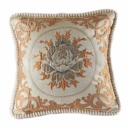 Classic Jacquard Embroidery Decorative Cotton Linen Throw Pi