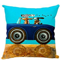 ME COO Classical Vintage Animal Style Star Dog and Cat Cushi