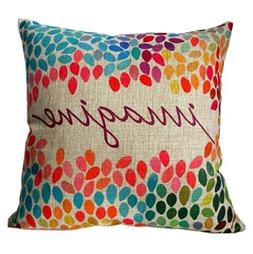 """Clearance!""""Imagine""""Pillow case,Canserin Cotton Linen Square"""