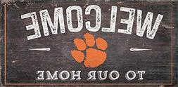 Fan Creations Clemson University Welcome Distressed 6 x 12 6