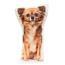 "Cushion Co - Chihuahua Long Haired Shaped Pillow 16"" x 12"""