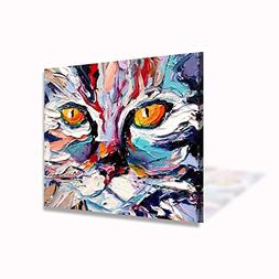 VIIVEI VV ART Colorful Cat Abstract Wall Art Picture Home De