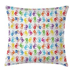 Colorful Decor Throw Pillow Cushion Cover by Ambesonne, Huma