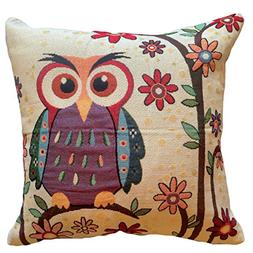 That's Perfect! Colorful Owls Decorative Throw Pillow Sham -