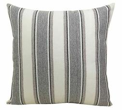 BLUETTEK Cool Stripe Pillow Cases Cotton Linen Square Decora