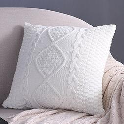 Fashion Cotton Cable Knit Pillow,Cushion,Double Side Knitted