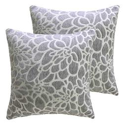 STARSCITY 100% Cotton Embroidered Decorative Throw Pillow Co