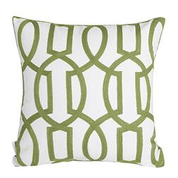 Mika Home Cotton Embroidery Geometric Links Accent Decorativ