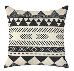NATURALSHOW Cotton Linen Home Decorative Aztec Print Tribal