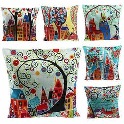 Cotton Linen Home Decorative Bedding Throw Pillow Case Sofa
