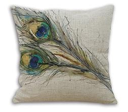 Janet Voss Cotton Linen Home Office Decorative Throw Pillow