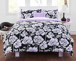 Seventeen 100-Percent Cotton Midnight Poppies Comforter Set,