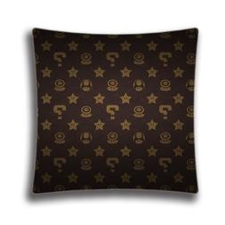 cotton polyester square throw pillow