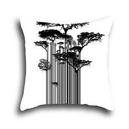 Connor Coco 100% Cotton Art Tree Oil Painting Throw Pillow C