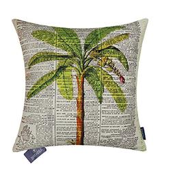 Aitliving Couch Pillow Cover Coco Palm Script Printed Cushio