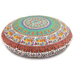 Floor Cover Bohemian Pillow Cushion Throw Decorative Patchwo