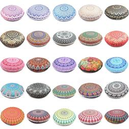 Cover Round Mandala Floor Pillow Cushion Case Decor Room Pou