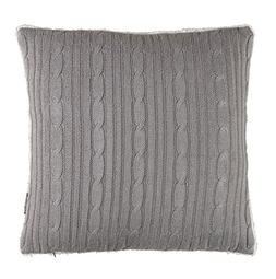 Brielle Cozy Cable Knit Throw Pillow Cover with Sherpa Backi