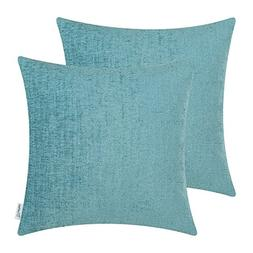 CaliTime Pack of 2 Cozy Throw Pillow Covers Cases for Couch