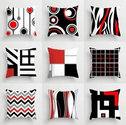 Creative Geometric Polyester Pillow Case Waist Throw Cushion