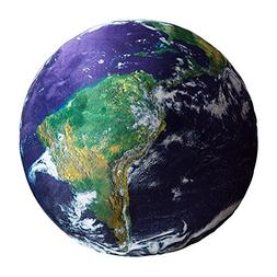 Creative Throw Pillow Cushion Outer View of Planet Earth in