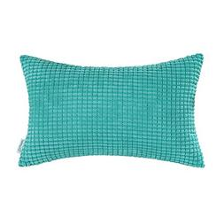 CaliTime Cozy Bolster Pillow Cover Case for Couch Sofa Bed C