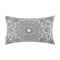 CaliTime Cushion Cover Bolster Pillow Case Shell Compass Geo
